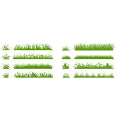 Green grass silhouette cartoon lines plants vector
