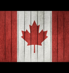Grunge Flag Of Canada vector