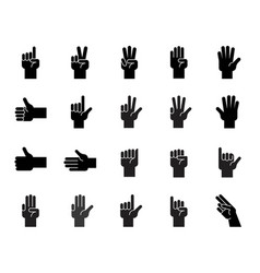 hand counting and hand gesture icon such as like vector image