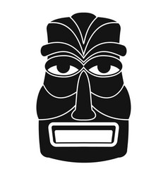 Hawaii wood tiki idol icon simple style vector