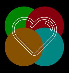 hearth icon vector image