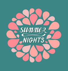 Hot summer nights vector