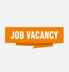 Job vacancy vector