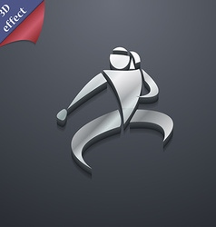 Karate kick icon symbol 3D style Trendy modern vector