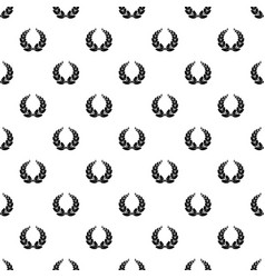 leaf wreath pattern seamless vector image