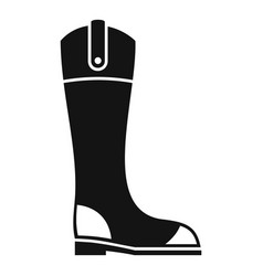 Leather horseback boot icon simple style vector