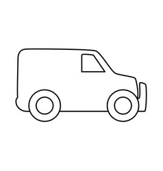 line truck to transportation delivery and logistic vector image