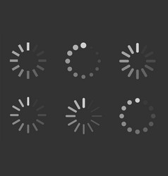 Loading signs load indicator icons vector