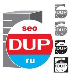 Logo server service vector