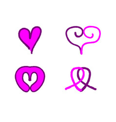 love logo collection vector image