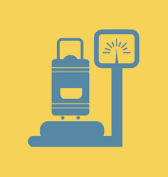 Luggage weighing vector