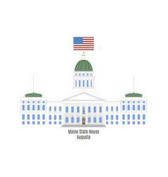 Maine state house vector