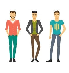 Men in fashionable clothes vector
