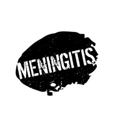 Meningitis rubber stamp vector