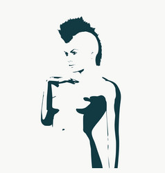 naked young woman vector image