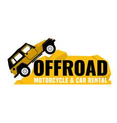Offroad car rental banner vector