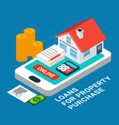 Online property purchase composition vector