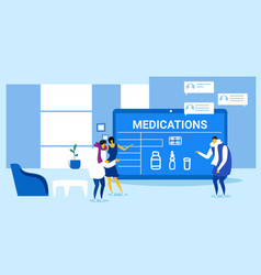 patients couple buying medications man woman vector image