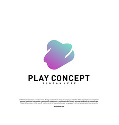 play logo design concept planet play logo vector image