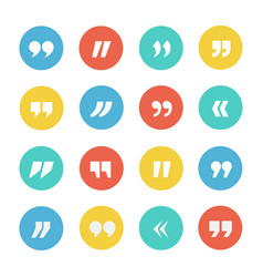 Quotes icon set vector