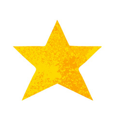 Retro style cartoon gold star vector