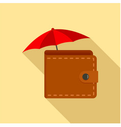safe wallet icon flat style vector image