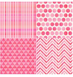 seamless geometric pink pattern vector image
