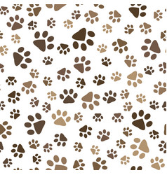 Seamless pattern with dog footprints vector