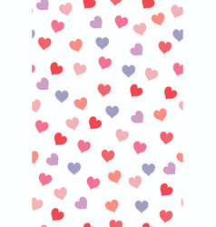 seamless pattern with multicolored hearts vector image