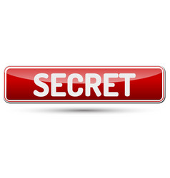 Secret - abstract beautiful button with text vector