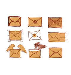 Set Of Drawn Messages vector image