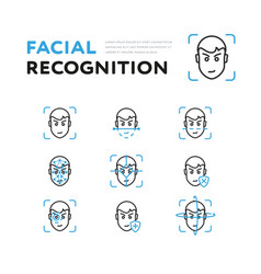 Set viewer for facial recognition vector