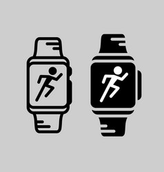 smartwatch training icon runner athlete vector image