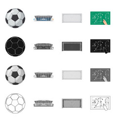 Soccer and gear symbol vector