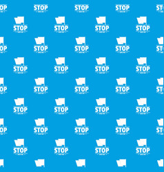 social protest stop pattern seamless blue vector image