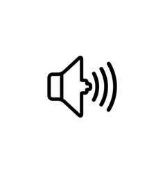 sound line icon in flat style for apps ui vector image