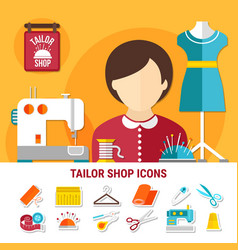 Tailor shop vector