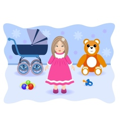 Toys for girl vector image