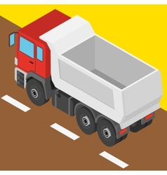 Truck in isometric projection vector