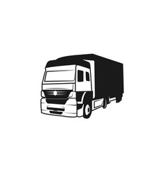 truck silhouette moving logo design inspiration vector image