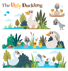 ugly duckling vector image