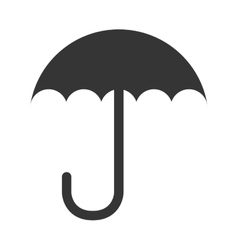 umbrella handle weather design isolated vector image
