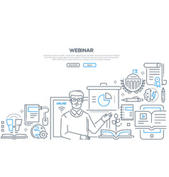 webinar - line design style vector image