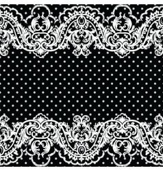 White vintage Lace Crochet pattern vector