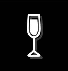 wine glass icon flat vector image