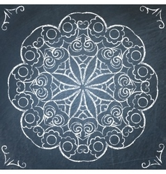 Chalkboard round ornament vector image vector image