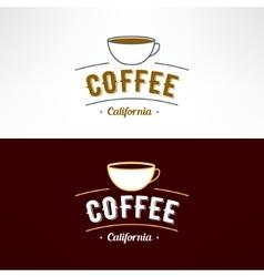 coffee shop logo Restaurant menu design vector image vector image