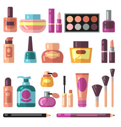girl accessories beauty and makeup flat vector image