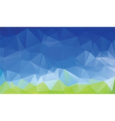 Green blue abstract low poly background vector