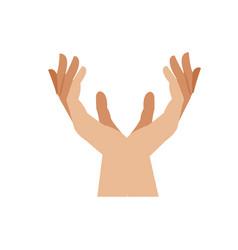 Human hands health care medical design vector